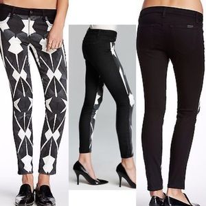 Joe's Jeans Skinny Matrix Geo Black White